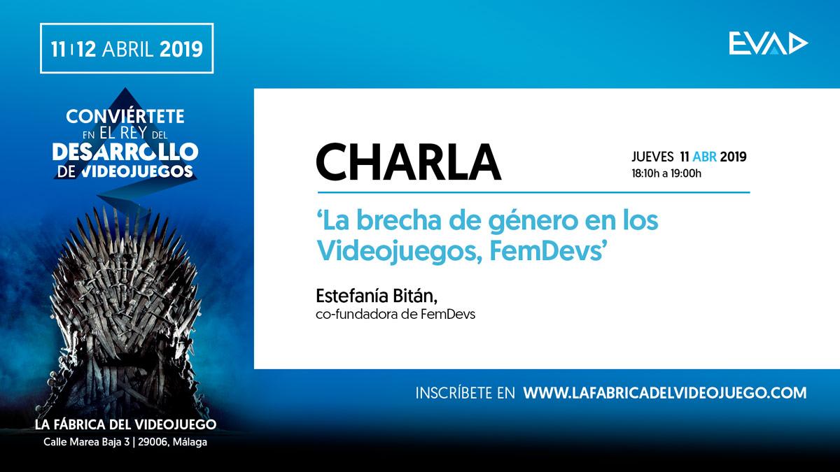 """CHARLA """"LA BRECHA DE GÉNERO EN LOS VIDEOJUEGOS"""" POR FEMDEVS"""