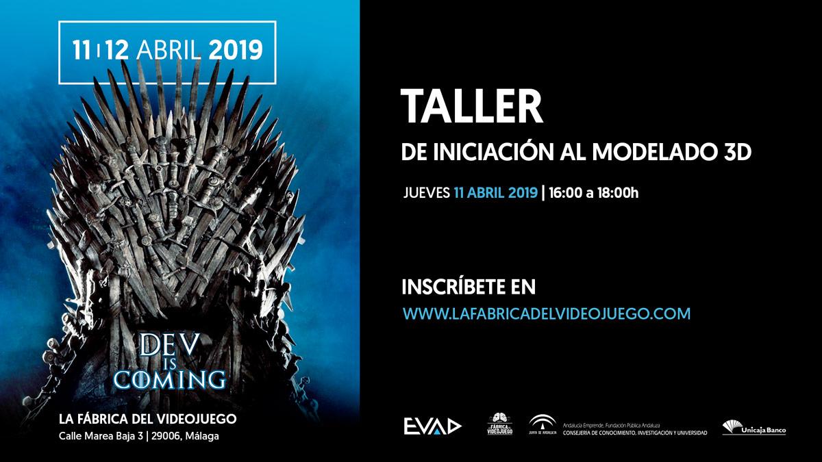 TALLER GRATUITO DE MODELADO 3D