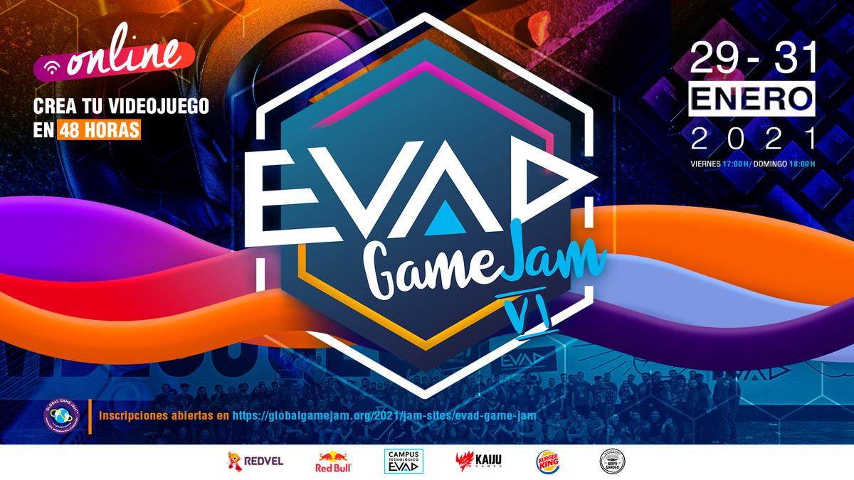 EVAD GAME JAM VI, la edición 100% online